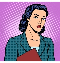 Businesswoman successful woman vector image vector image