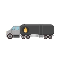 Cargo truck with oil tank vector
