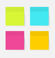 Color sticky notes vector image vector image