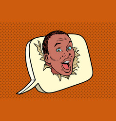 comic balloon happy african man says vector image vector image