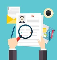 Cv resume job interview concept writing a resume vector
