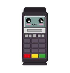 Dataphone electronic device kawaii cartoon vector