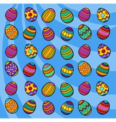 easter eggs background cartoon vector image