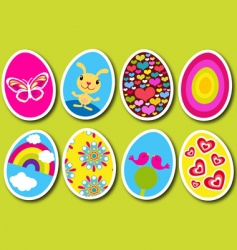 Easter eggs pop vector image