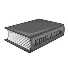 Education book icon gray monochrome style vector