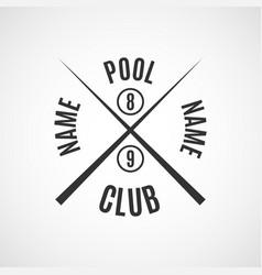 emblem billiard club vector image vector image