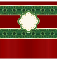 Greeting card in Christmas colors vector image