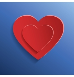 Heart for Valentines Day background vector image vector image