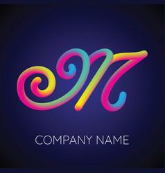 letter logo icon blending color design template vector image vector image