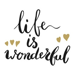 Life is wonderful vector image vector image