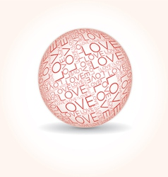 Love word collage vector image vector image