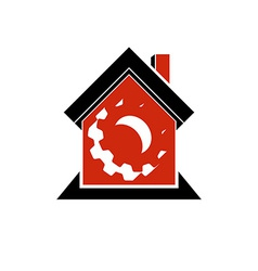 Manufactory conceptual symbol vector