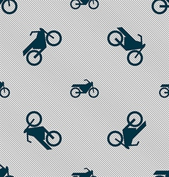 Motorbike icon sign seamless pattern with vector