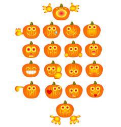 Pumpkin smiles vector