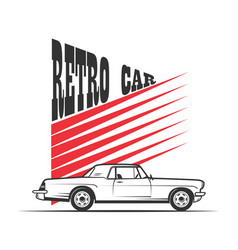 Retro car in vintage style vector