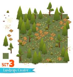 set of forest landscape vector image