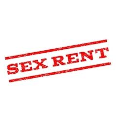 Sex Rent Watermark Stamp vector image vector image