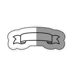 Silhouette long ribbon icon vector