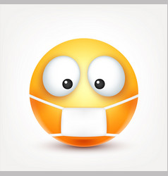 Smileyill emoticon yellow face with emotions vector