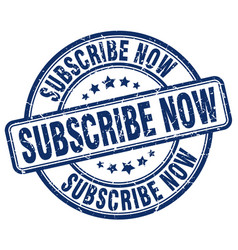 Subscribe now stamp vector