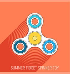 Three blades fidget spinner toy in flat style vector