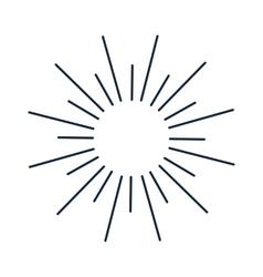 Vintage monochrome bursting rays sun lines vector image
