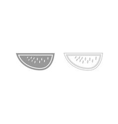 watermelon grey set icon vector image