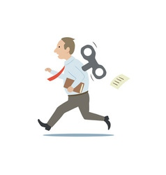 white collar worker vector image vector image
