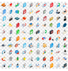 100 website icons set isometric 3d style vector