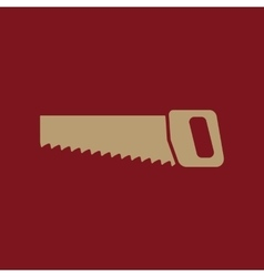 The saw icon saw symbol flat vector