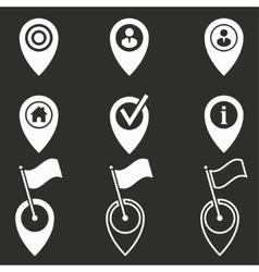 Map pin icon set vector