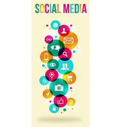 Social media colorful banner vector