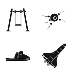 Swings fertilization and other web icon in black vector