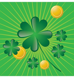 St patricks day concept on green background vector