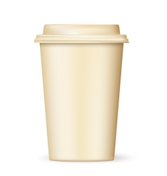 Retro coffee cup to go vector