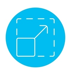 Scalability line icon vector
