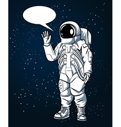 Astronaut in space suit hand drawn style vector