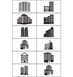 Real estate building logo vector
