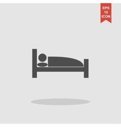 Sleeping symbol flat design style vector