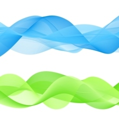 Abstract bright color wave vector image vector image