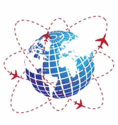 airplane route vector image vector image