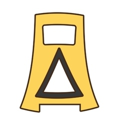 Cartoon barrier warning advert careful vector