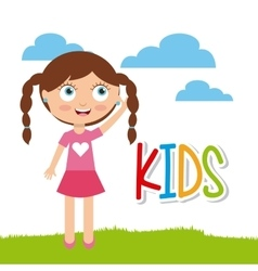 Cartoon happy kid vector