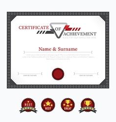 Certificate template layout background frame desig vector image