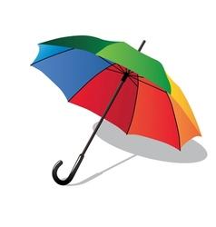 Colorful umbrella vector image vector image