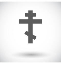 Cross single flat icon vector image vector image