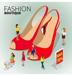 Fashion boutique shop variety of the colorful vector