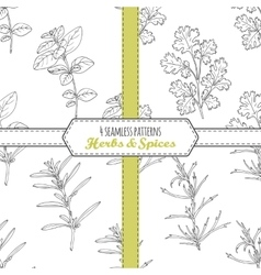 Hand drawn seamless patterns collection with vector