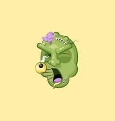 Head terrible facial expression zombie yelling vector