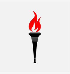 Icon torch the flag vector